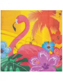 Hawaii Servietten Party-Deko 12 Stück bunt 33x33cm