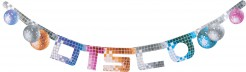 Disco Banner Girlande Party-Deko bunt 180x16cm
