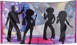 70er-Jahre Disco-Banner Party-Deko bunt 90x150cm