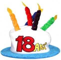 Geburtstagshut Geburtstagsaccessoire 18 Jahre Hut mit Kerzen bunt