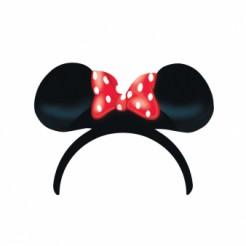 Minnie Maus-Haarreif mit Ohren für Kinder 4 Stück schwarz-rot-weiss