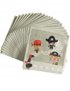 20 Piraten-Servietten 33 x 33 cm