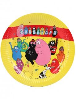 Barbapapa-Pappteller Party-Tischdeko Lizenzware 6 Stück gelb-bunt 23cm