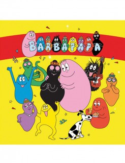 Barbapapa Servietten Lizenzware Party-Deko 20 Stück bunt 33x33cm