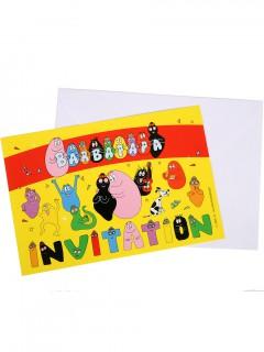 Barbapapa Einladungskarten Lizenzware Party-Deko 6 Stück bunt