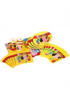 Barbapapa-Partyset Partydeko-Set Lizenzware 25-teilig gelb-bunt