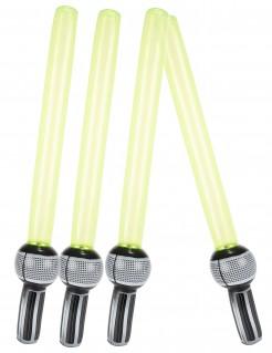 Aufblasbares Laserschwerter-Set Accessoire-Set 4-teilig grün-schwarz-grau 72cm
