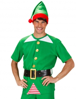 Weihnachtswichtel-Erwachsenenkostüm Kobold grün