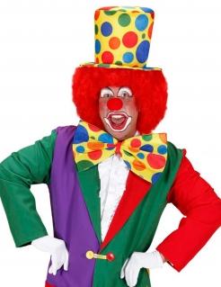Clown Zylinder mit Punkten gelb-bunt