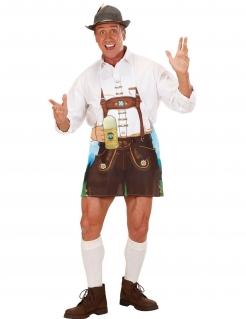Bayern-Schürze mit Krug Kostümaccessoire bunt