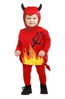 Süsses Teufel Baby Kostüm bunt