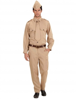 Amerikanischer Soldat - Herren-Kostüm - sandfarben