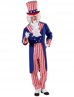 USA Uncle Sam Herren Kostüm rot-blau-weiss