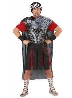 Römischer Herrscher Römerkostüm schwarz-silber-rot