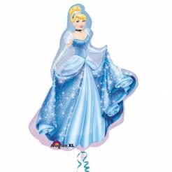 Lizenzartikel Cinderella Aluminium Luftballon blau