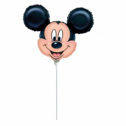 Mickey Maus Gesicht Luftballon Aluminium Disney-Lizenzartikel beige-schwarz