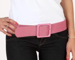 Disco Glitzer Gürtel für Damen rosa