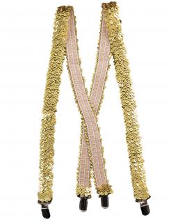 Hosenträger mit Pailletten Kostümaccessoire gold