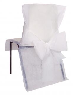 Stuhlhusse premium Partydeko Hochzeit 10 Stück weiss 50x95 cm