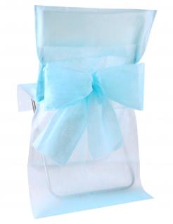 Hochzeitsdekoration Stuhl-Hussen 10 Stück hellblau 50x95cm