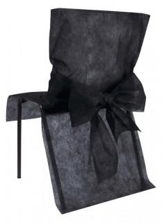Stuhlhusse premium Partydeko 10 Stück schwarz 50x95 cm