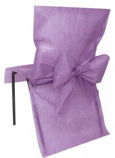 Premium-Stuhlhusse Partydeko Hochzeit 10 Stück violett 50x95 cm