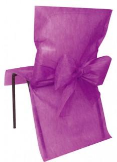 Hochzeitsdekoration Stuhl-Hussen 10 Stück fuchsia 50x95cm