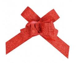 Deko-Schleife mit Glitzer 10 Stück rot 14cm