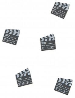 Filmklappen Streudeko Tischkonfetti 25 Stück schwarz-weiss 2x2,22cm 200g