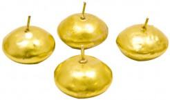 Schwimmkerzen Weihnachtsdeko Tischdeko 4 Stück gold