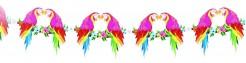 Papageien-Girlande Hawaiiparty-Deko bunt