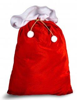 Weihnachtssack Geschenkebeutel rot-weiss
