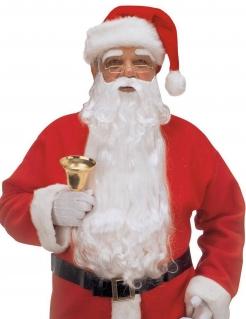 Weihnachtsmann Kostüm-Set Bart und Augenbrauen Nikolaus weiss
