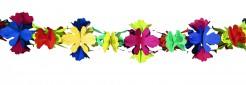 Blumen Papier Girlande bunt 4m