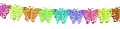 Girlande Schmetterlinge Party-Deko bunt 6mx15cm