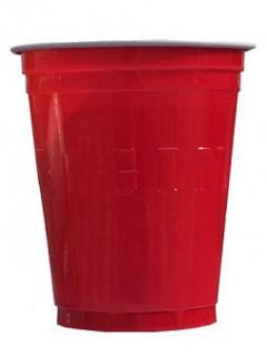 Party Becher Lizenzartikel amerikanischer Original Cup 20 Stück rot 530 ml