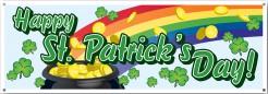 Regenbogen-Banner mit Goldtopf St. Patrick