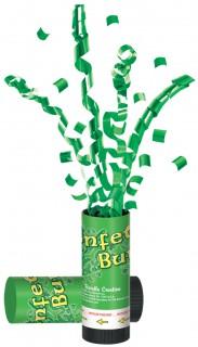 Konfettikanone Partykonfetti grün 60cm