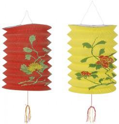 Laterne Chinesisches Neujahr 2 Stück gelb-rot