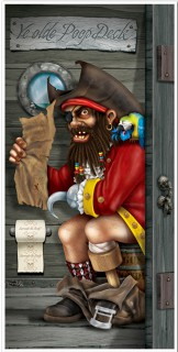 Piraten Türdeko bunt 76x150cm