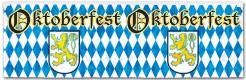 Oktoberfest Party-Banner blau-weiss-gelb 1,2mx35,5cm