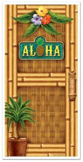Türdeko Hawaii Bambus Aloha bunt 76x150cm