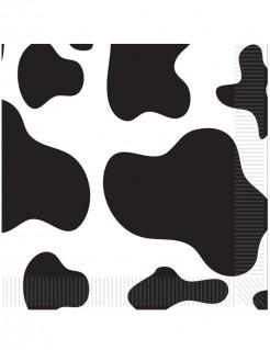 Party Servietten Kuhflecken groß 16 Stück schwarz-weiss