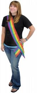 Regenbogen Party-Schärpe bunt 84x10cm