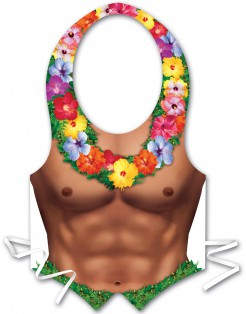 Sexy Schürze Hawaii Mann für Herren bunt