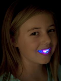 Halloween Gebiss mit LED-Beleuchtung für Kinder phosphoreszierend
