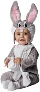Looney Tunes Bugs Bunny Babykostüm Lizenzkostüm grau-rosa-weiss