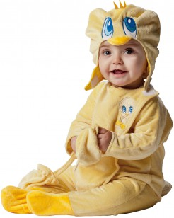 Looney Tunes Tweety Babykostüm gelb-blau
