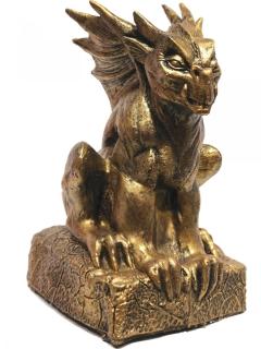 Gargoyle-Dekofigur gold 17x33cm