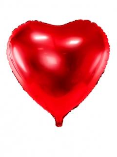 Herz-Luftballon Aluminium-Ballon Valentinstag-Deko rot 45cm